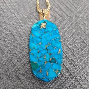 Jewelry - Turquoise Imperial Jasper Drawstring Necklace